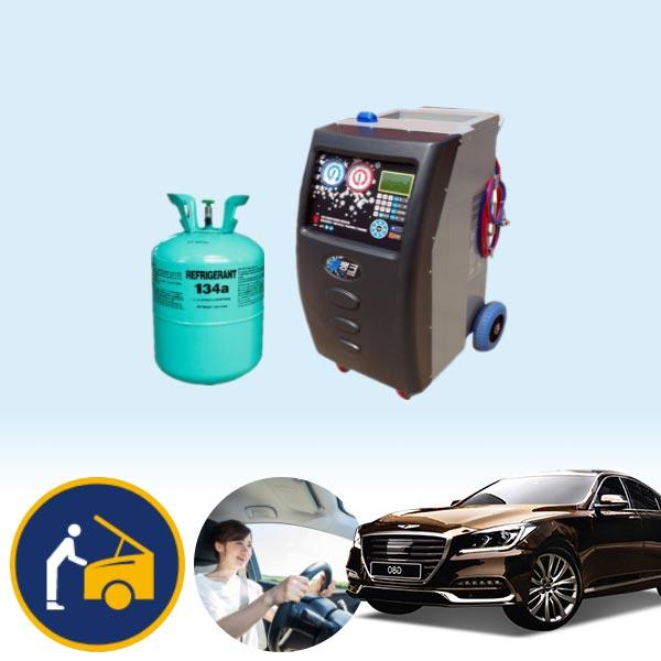 제네시스G80 스포츠(가솔린) 에어컨가스 134a 충전KPT-078 cs01064