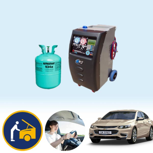 말리부(올뉴) 2.0(가솔린) 에어컨가스 134a 충전 KPT-078 cs03035
