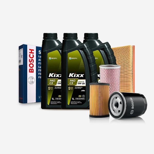 투싼ix(09~15) 2.0(디젤)' KIXX PAO 합성엔진오일 필터세트 KPT-104 cs01042