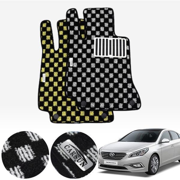 LF쏘나타 킹덤 카펫 매트 1열만 PCS-2243 cs01052 차량용품