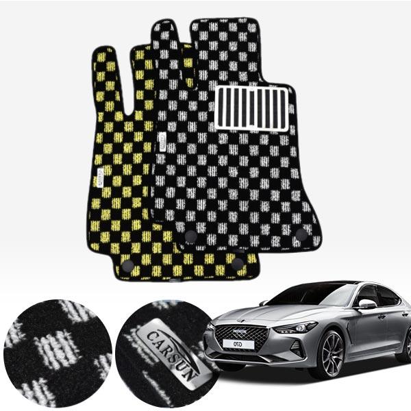 제네시스G70(4륜) 킹덤 카펫 매트 1열만 PCS-2243 cs01068 차량용품