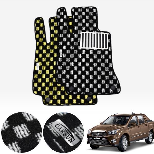 코란도스포츠 킹덤 카펫 매트 1열만 PCS-2243 cs04014 차량용품