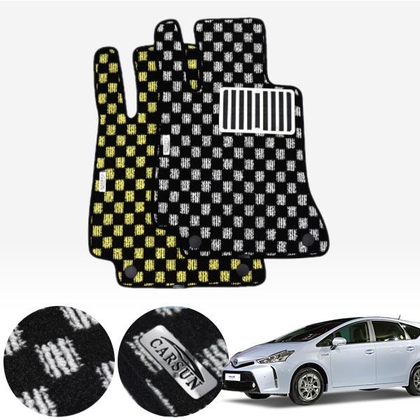 토요타 프리우스 V / 15.04~18년식 킹덤 카펫 매트 1열만 PCS-2243 cs14024 차량용품
