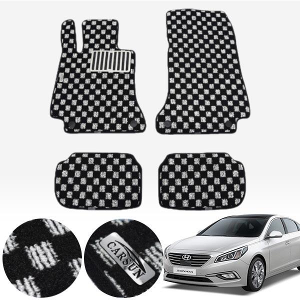LF쏘나타 킹덤 카펫 매트 1열+2열 PCS-2243 cs01052 차량용품