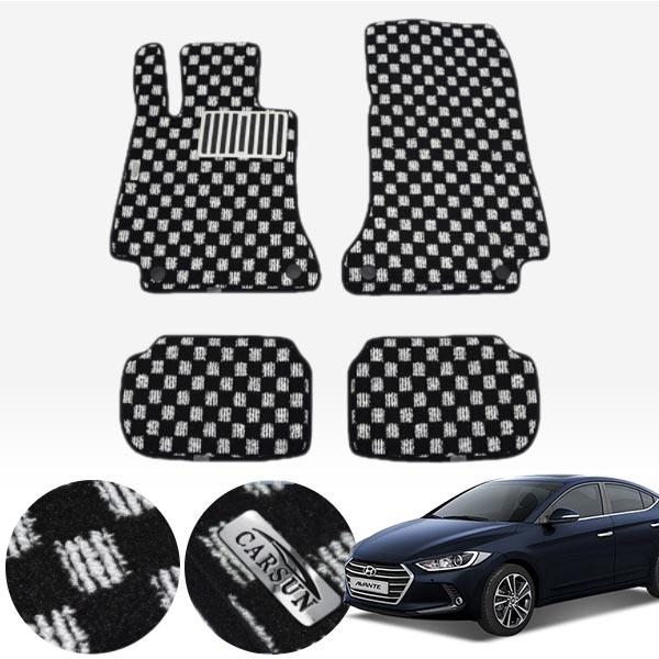 아반떼AD 킹덤 카펫 매트 1열+2열 PCS-2243 cs01057 차량용품
