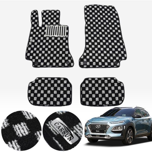 코나 킹덤 카펫 매트 1열+2열 PCS-2243 cs01067 차량용품