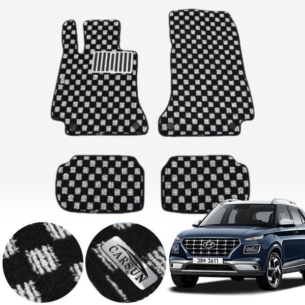 베뉴 킹덤 카펫 매트 1열+2열 PCS-2243 cs01078 차량용품