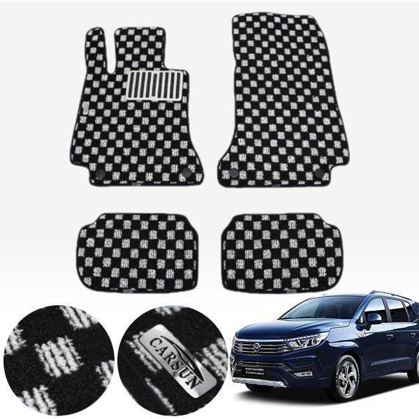 코란도투리스모11인 킹덤 카펫 매트 1열+2열 PCS-2243 cs04010 차량용품