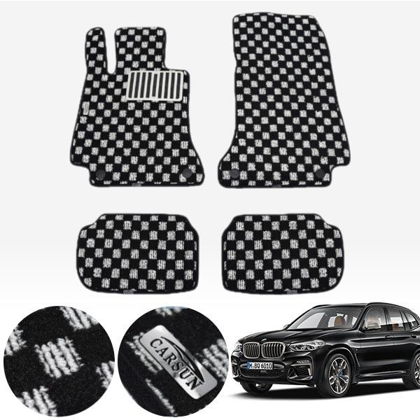 BMW X3 3세대 G01 / 17.11~ 킹덤 카펫 매트 1열+2열 PCS-2243 cs06041 차량용품