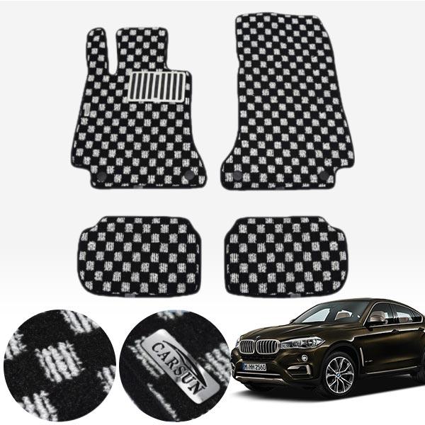 BMW X6 2세대 F16 / 14.11~19 킹덤 카펫 매트 1열+2열 PCS-2243 cs06043 차량용품