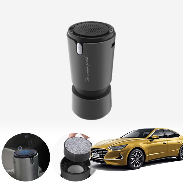 쏘나타DN8 컵홀더용 헤파 공기청정기 PFT-012 cs01076 차량용품