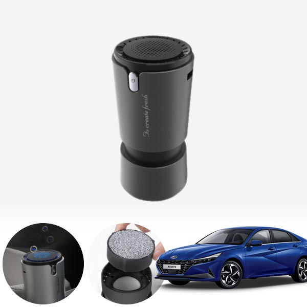 아반떼CN7' 컵홀더용 헤파 공기청정기 PFT-012 cs01081 차량용품