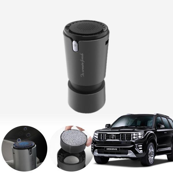 모하비(더마스터)' 컵홀더용 헤파 공기청정기 PFT-012 cs02069 차량용품