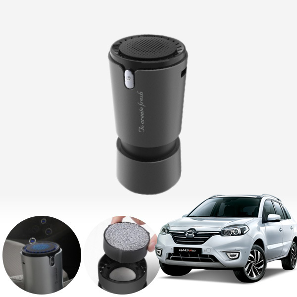 QM5 컵홀더용 헤파 공기청정기 PFT-012 cs05006 차량용품