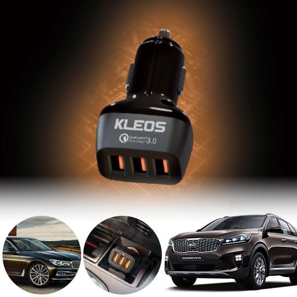 쏘렌토(올뉴)(15~) 3포트 USB급속충전기 cs02052 차량용품