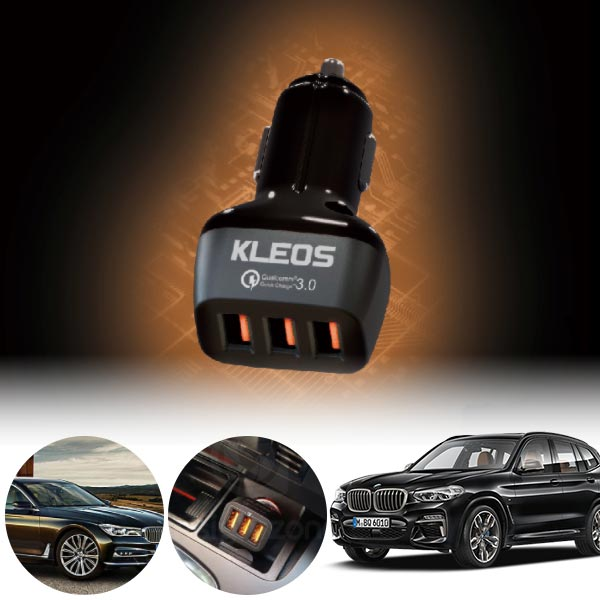 X3(G01)(18~) 3포트 USB급속충전기 cs06041 차량용품