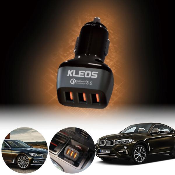 X6(F16)(15~) 퀵차지3.0 3구 USB 급속충전기  PKL-301 cs06043 차량용품