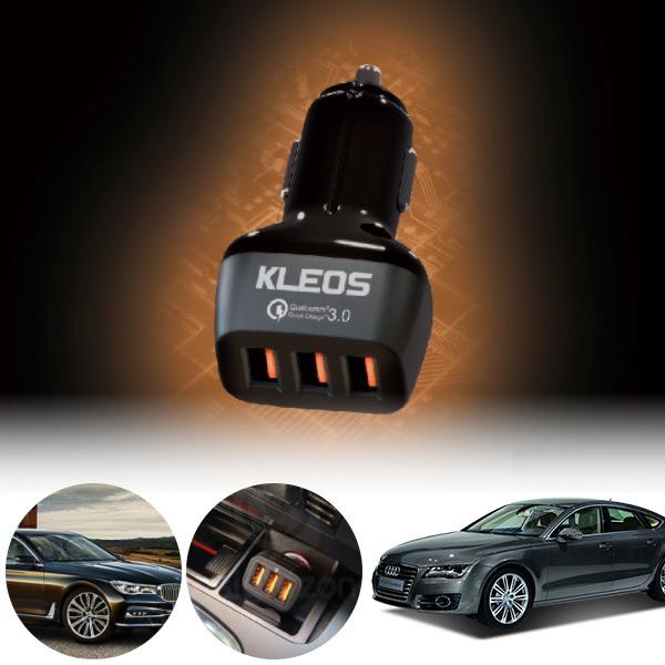 A7(4G8)(10~17) 3포트 USB급속충전기 cs08008 차량용품
