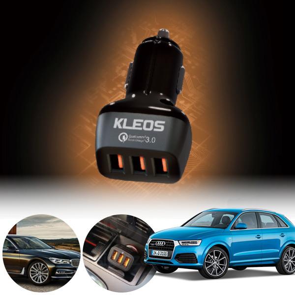 Q3(8U)(11~18) 3포트 USB급속충전기 cs08011 차량용품