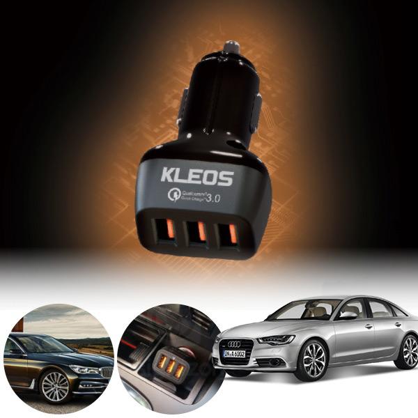 A6(C7)(12~) 퀵차지3.0 3구 USB 급속충전기  PKL-301 cs08027 차량용품