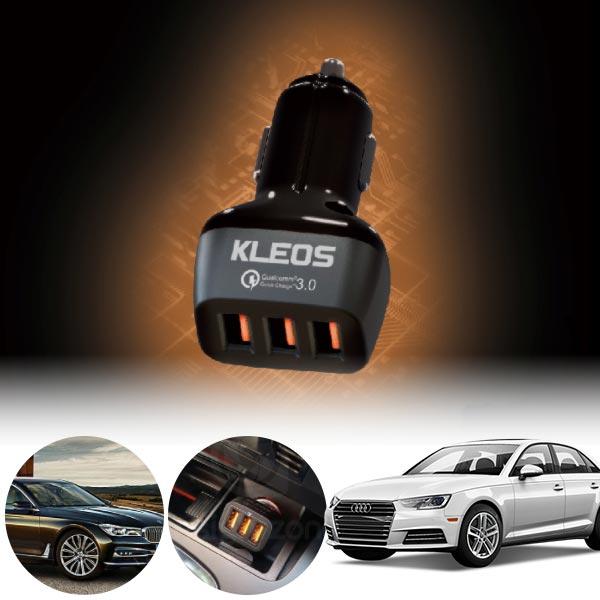 A4(B9)(16~) 퀵차지3.0 3구 USB 급속충전기  PKL-301 cs08029 차량용품