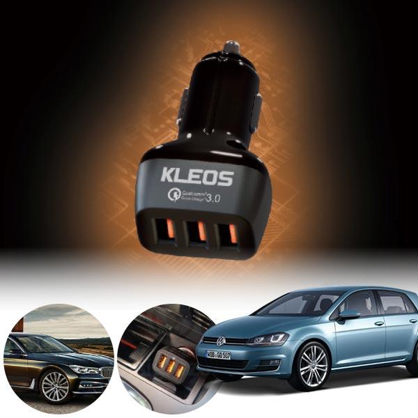 골프(7세대)(14~) 3포트 USB급속충전기 cs09021 차량용품