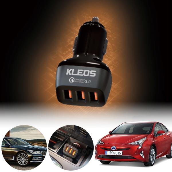 프리우스(4세대)(16~) 3포트 USB급속충전기 cs14023 차량용품