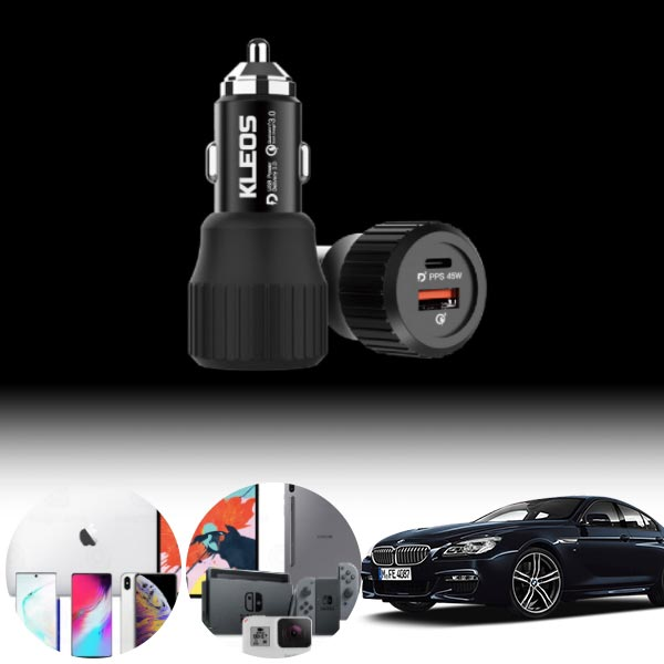 6GT(G32)(17~) USB-C 63W 차량용 급속충전기 PKL-632 cs06044 차량용품