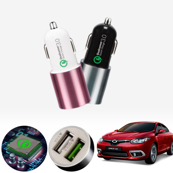 SM3(뉴/네오)(10~) 퀄컴 3.0 급속USB 차량용충전기 PMN-1544578722 cs05009 차량용품