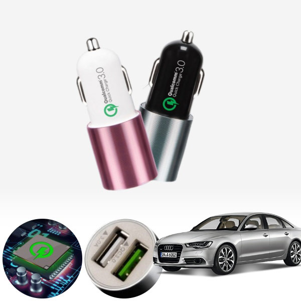 A6(C7)(12~) 퀄컴 3.0 급속USB 차량용충전기 PMN-1544578722 cs08027 차량용품