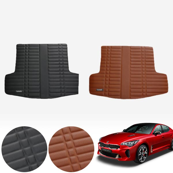 스팅어 가죽 트렁크 매트 PMR-007 cs02060 차량용품