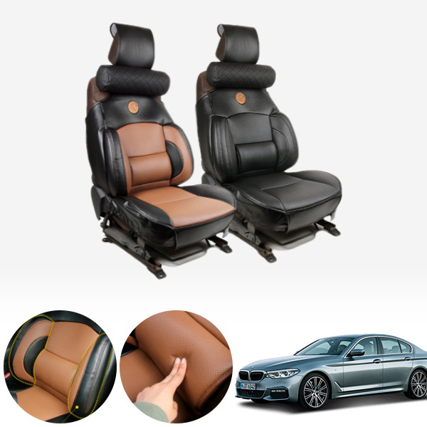 5시리즈(G30)(17~) 누브리노 브라운 버킷시트 넥쿠션 세트 PMT-3295 cs06037 차량용품