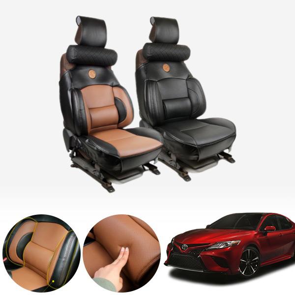캠리(18~) 누브리노 브라운 버킷시트 넥쿠션 세트 PMT-3295 cs14021 차량용품