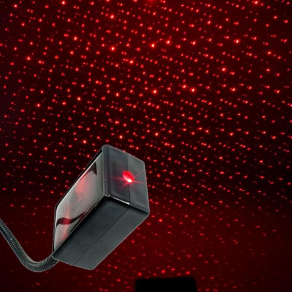 전차종공용' 갤럭시 자동변환 별빛 레드 LED 무드등 (USB) PSH-8351 cs41001 차량용품