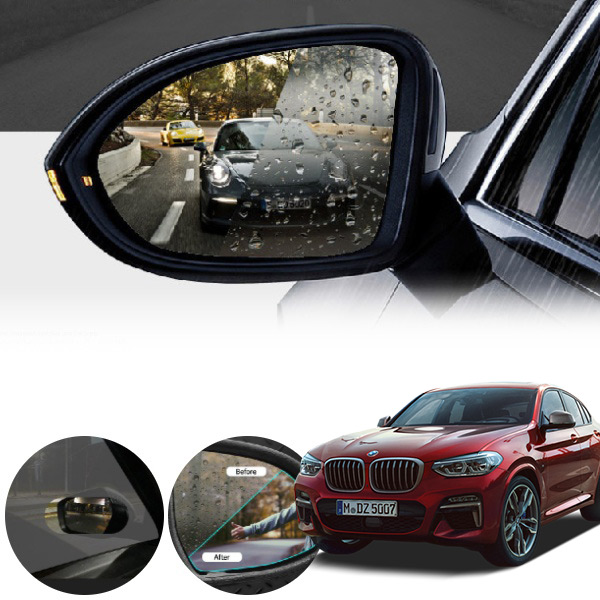 BMW X4 나노코팅 사이드미러 발수코팅필름 PTK-2522 cs06017