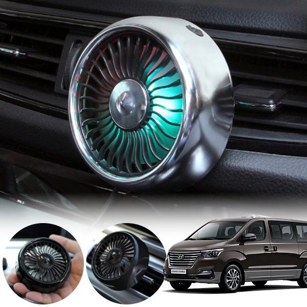 그랜드스타렉스(18~) 차량용 LED 에어 서큘레이터 선풍기 PWM-1145 cs01071 차량용품