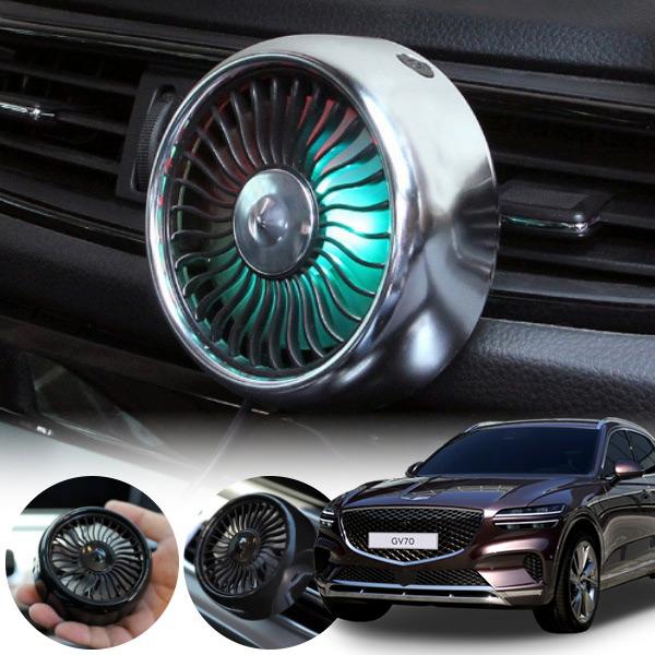 제네시스GV70' 차량용 LED 에어 서큘레이터 선풍기 PWM-1145 cs01082 차량용품