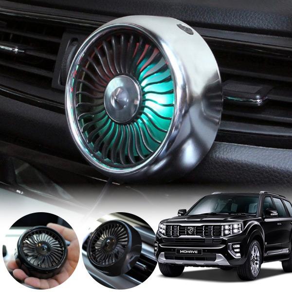 모하비(더마스터)' 차량용 LED 에어 서큘레이터 선풍기 PWM-1145 cs02069 차량용품