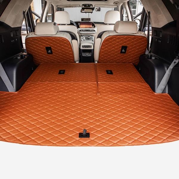제네시스 GV80 1열+2열+3열+트렁크 프로텍션 풀커버 트렁크매트 PWN-1562910051 cs01080