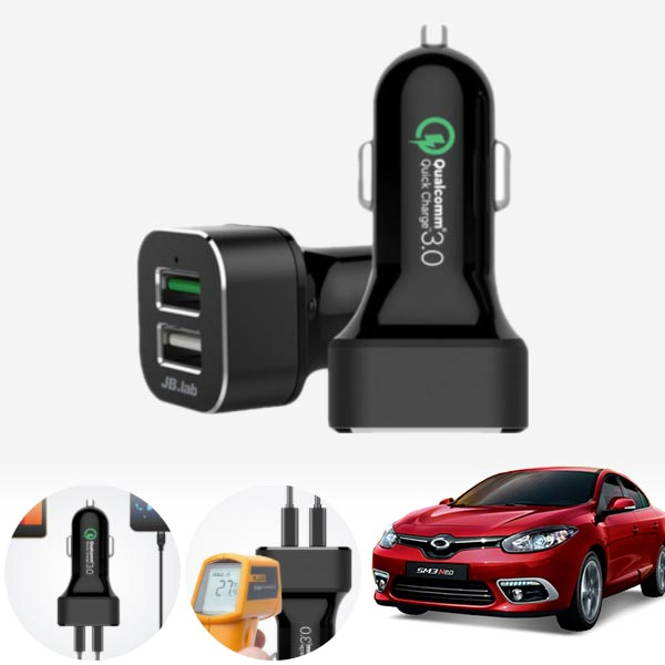 SM3(뉴/네오)(10~) USB 2구 급속충전기 cs05009 차량용품